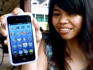 me promoting iPhone!