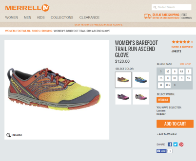 merrell barefoot trail run ascend glove